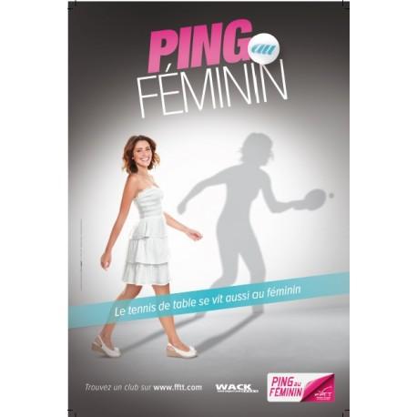 AFFICHE PING AU FEMININ
