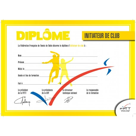 DIPLOME INITIATEUR DE CLUB