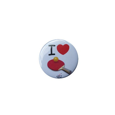 "BADGE ""I LOVE PING PONG"""