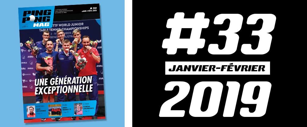 PING PONG MAG N°33 - Janvier/Février 2019